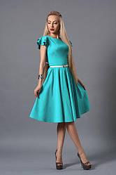 Красивое нарядное платье клеш за колено ,42,44,46,48