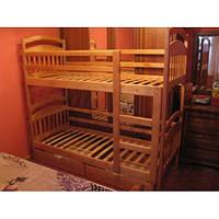 Двухъярусная деревянная кровать Иринка