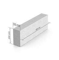 Газобетон ЮДК 100х200х600 мм гладкий блок