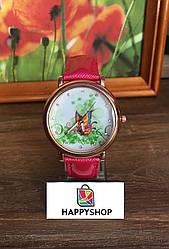Жіночий кварцевий годинник Butterfly (Рожеві)