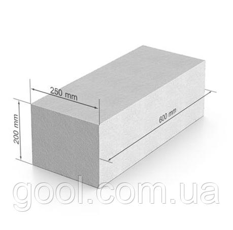 Газобетон ЮДК (UDK) гладкий блок 600х200Х375 мм