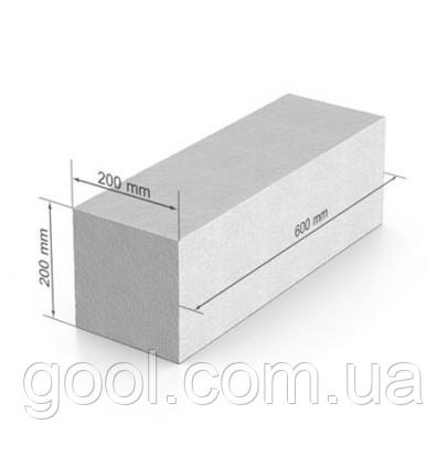 Газобетон, газобетонный блок ЮДК гладкий блок 600х200Х200 мм