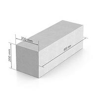 Газобетон, газобетонный блок ЮДК гладкий блок 600х200Х200 мм, фото 1