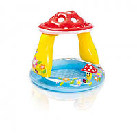 Надувной детский бассейн Грибок. Интекс 57114