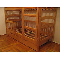Двухъярусная  деревянная кровать Карина Люкс