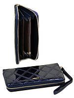 Женский кошелек с лакового кожзама Rose-2 WD-8 blue