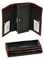 Женский лаковый кошелек Rose WS-34 black, фото 1