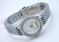 Часы женские Geneva - кристальный циферблат, цвет корпуса сталь, фото 1
