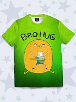 """Детская футболка """"Bro hug"""" с ярким рисунком и 3Д-эффектом для мальчиков, от 1 года до 10 лет."""