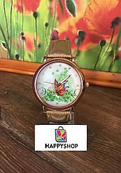 Жіночий кварцевий годинник Butterfly (Золоті)
