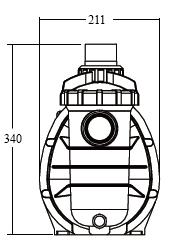 габаритные размеры насоса Emaux SS033