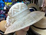 Шляпа женская на лето из натуральной соломки синамей, фото 2