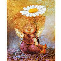 """Картина для рисования камнями Алмазная вышивка """"Ангел с ромашкой"""" , фото 1"""