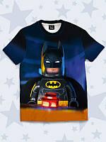 """Оригинальная детская футболка """"Lego Batman"""" с модным красочным 3D-принтом/рисунком из легкой ткани на лето."""