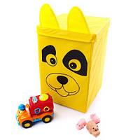 Ящик - корзина для хранения игрушек с крышкой Собачка