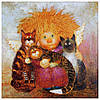 """Картина для рисования камнями Алмазная вышивка """"Ангел и кошки"""""""