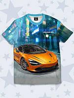 """Летняя детская футболка для мальчика """"Auto McLaren"""" с ярким рисунком. Размеры от 1 года до 10 лет."""