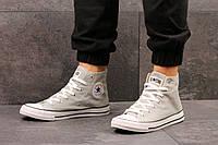 Мужские высокие кеды Converse All Star, серый / кеды мужские Конверс / Конверсы серые, 2017