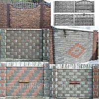 Заборы декоративные бетонные (Еврозаборы)