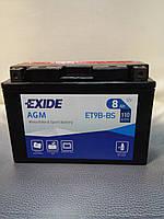 Аккумулятор мото Exide ET9B-BS AGM  12V8Ah