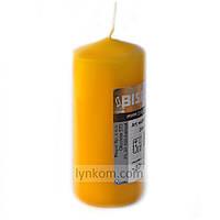Свеча цилиндр желтая 50х100мм декоративная