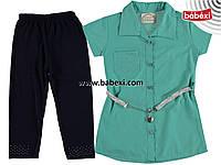 Комплект рубашка+трессы для девочки 4,5,6,7 лет 219809