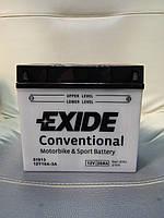 Аккумулятор мото Exide 12Y16A-3A 12V20Ah