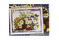 Набор Вышивка бисером и лентами Ваза с цветами БВ-01Р-03