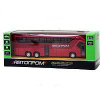 """Автобус металл 7779 """"АВТОПРОМ"""" 4 цвета,батар.,свет,звук, откр.двери в коробке 24*8,5*8см"""