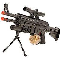 Автомат муз.батар AK-91B свет,звук, в коробке