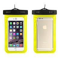 Водонепроникний чохол для телефону Aqualife універсальний жовтий, фото 1