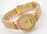 Часы женские Geneva - кристальный циферблат, цвет корпуса золото, фото 1