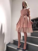 Платье Летнее с кружевом до колена (L) Black Rich