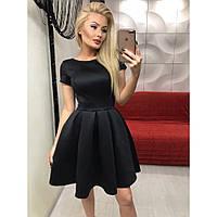 Платье женское красивое черное с открытой спиной №1071 ,интернет магазин платьев