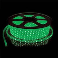 Светодиодная Led лента 5050smd 220V IP68 зеленая 60 led