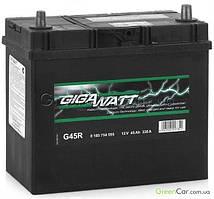 Автомобильный Аккумулятор GigaWatt 45 Ач (Asia) Гигават 45 Ампер (Азия) GW 0185754557