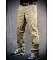 Мужские брюки чинос бежевые, из хлопка