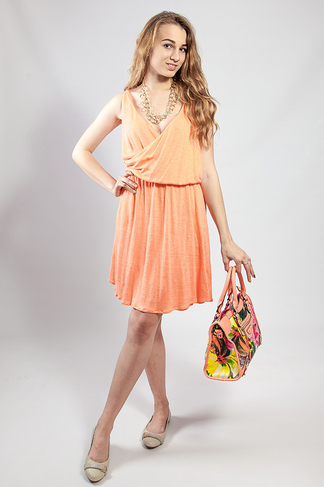 Платье женское летнее на бретелях сарафан яркое  Massimo Dutti