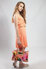 Платье женское летнее на бретелях сарафан яркое  Massimo Dutti, фото 2