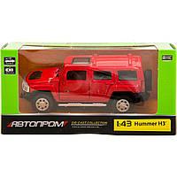 """Машина металл 67301 """"АВТОПРОМ"""",HUMMER,откр.двери,в коробке 14,2*7,2*6,5см"""