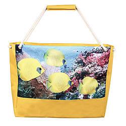 Пляжная сумка рыбы желтая