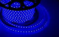 Светодиодная Led лента синяя 2835smd 220V IP67 120 led уличного использования