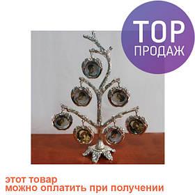 """Рамка дерево """"Яблоки"""" для 7 фотографий 3 х 3 см, 15х22 см / Фоторамка семейное дерево"""