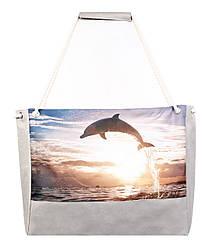 Пляжная сумка дельфин