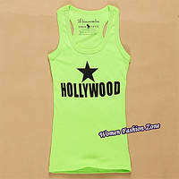 Летняя секси майка футболка Hollywood _Голливуд