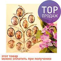 Семейная фоторамка на 12 фото, родовое дерево / Фоторамка семейное дерево