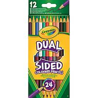 Набор для творчества Crayola 12 двухсторонних цветных карандашей (68-6100)