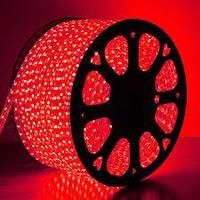Светодиодная лента красная 2835smd 220V IP67 120 led герметичная