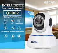 Поворотная IP-камера ночного видения ESCAM QF002. P2P, WIFI. Android/ IOS.