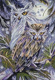"""Набор для вышивания крестиком птицы """"Совы"""""""